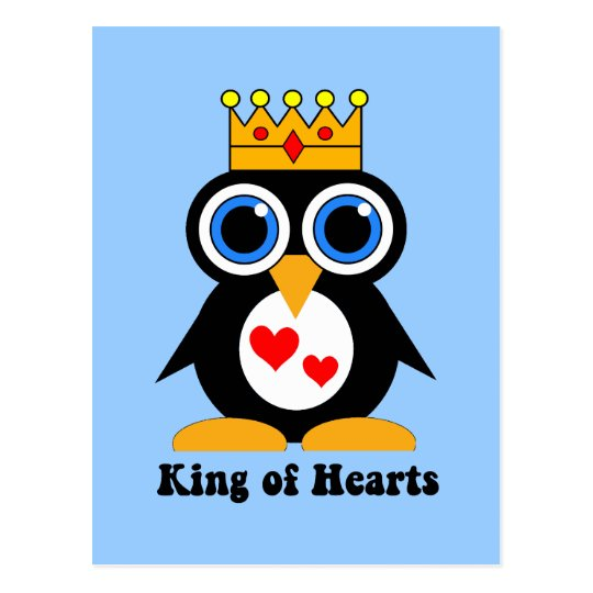 king of hearts postcard
