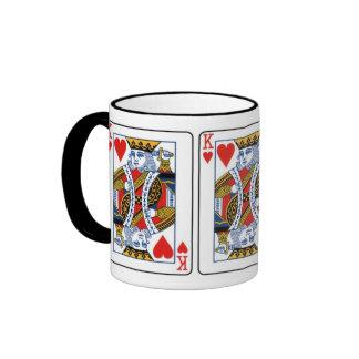 King of Hearts Ringer Coffee Mug