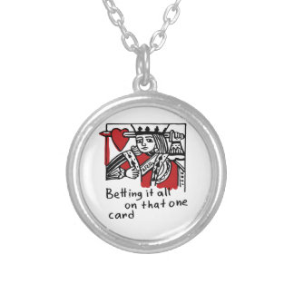 KIng of Hearts Silver Plated Necklace