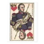 KING OF HEARTS Vintage Print Friedr Wilhelm IV Post Card