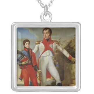 King of Holland and Crown Prince of Holland Silver Plated Necklace