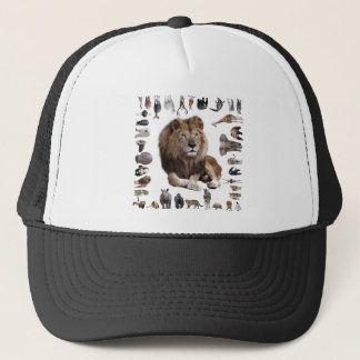 King of hundred animals trucker hat