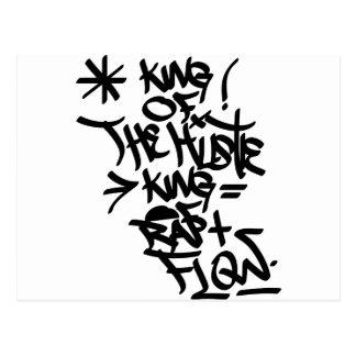 king of hustle postcard