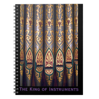King of instruments notepad spiral notebook