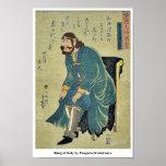 King of Italy by Utagawa,Yoshitsuya Posters