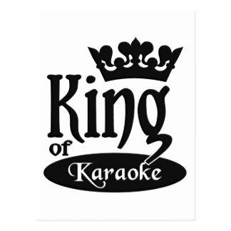 King of Karaoke postcard