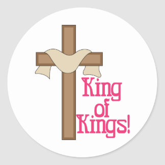 King Of Kings Classic Round Sticker