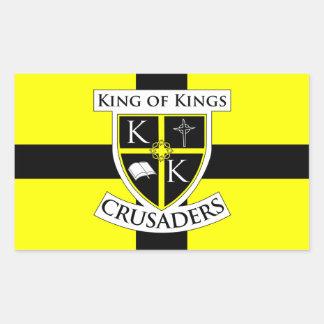 King of Kings Crusaders Flag Sticker