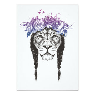 King of lions card