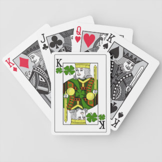 King of Lucky Clovers (Gold Clover Crown) Bicycle Playing Cards
