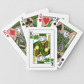 King of Lucky Clovers (Green Hat) Bicycle Playing Cards