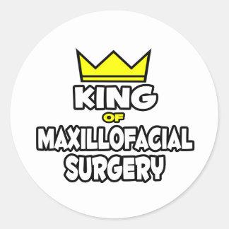 King of Maxillofacial Surgery Round Sticker