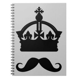 King of Mustaches custom color notebook