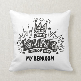 King Of My Bedroom 2-Sided Throw Pillow