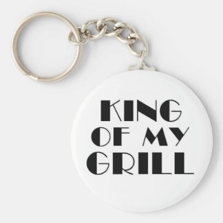 King Of My Grill.. Basic Round Button Keychain