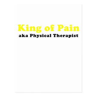 King of Pain aka Physical Therapist Postcard