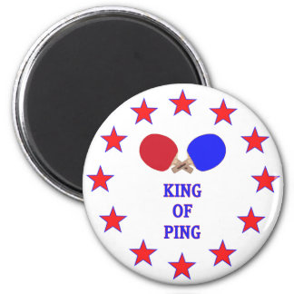 King of Ping Pong 2 Inch Round Magnet