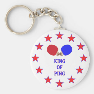 King of Ping Pong Basic Round Button Keychain