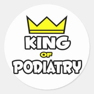 King of Podiatry Classic Round Sticker
