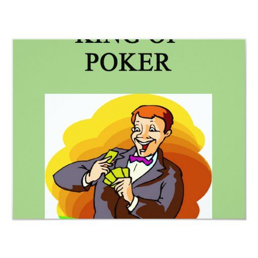 "king of poker 4.25"" x 5.5"" invitation card"