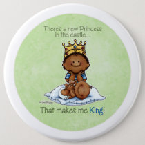 King of Princess African American Big Bro button