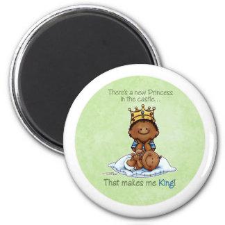 King of Princess African American Big Bro magnet