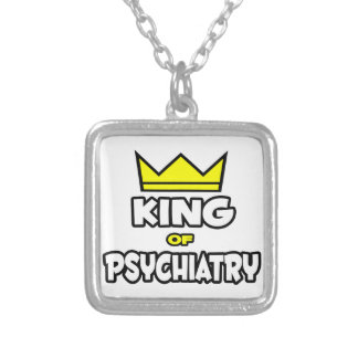 King of Psychiatry Square Pendant Necklace
