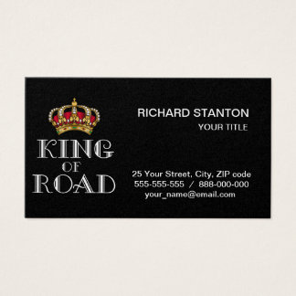 King of road business card
