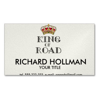 King of road business card magnet