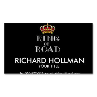 King of road magnetic business card