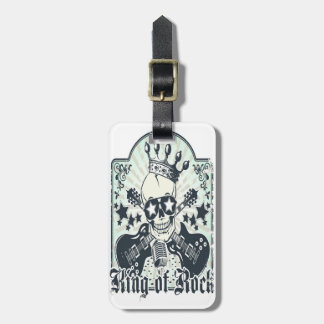 KING OF ROCK/COOL GRUNGY DESIGN FOR HIM LUGGAGE TAGS