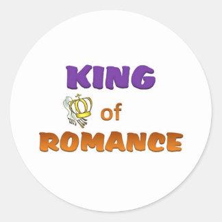 King of Romance Classic Round Sticker