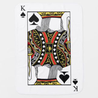 King of Spades - Add Your Image Baby Blanket