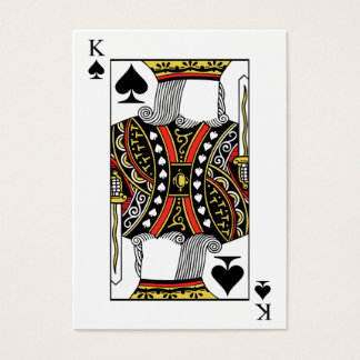 King of Spades - Add Your Image Business Card