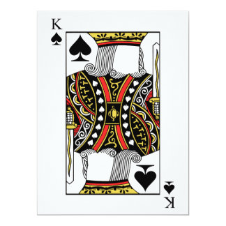 King of Spades - Add Your Image Card