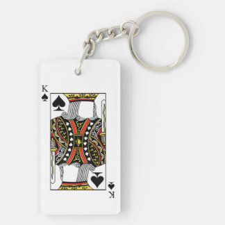 King of Spades - Add Your Image Keychain