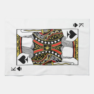 King of Spades - Add Your Image Kitchen Towel
