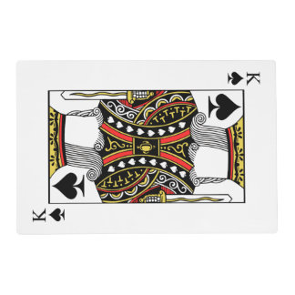King of Spades - Add Your Image Placemat