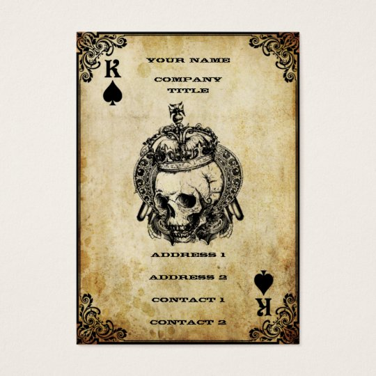 King of spades business card zazzle king of spades business card colourmoves Images