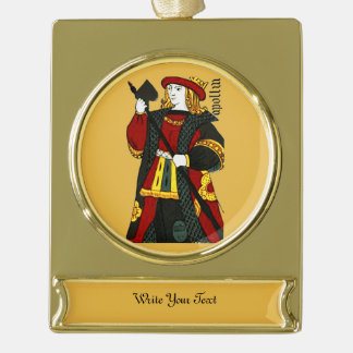 King of Spades Gold Plated Banner Ornament