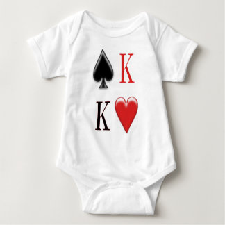 King of Spades, King of Hearts  Apparel Baby Bodysuit