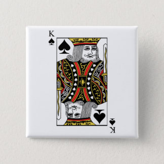King of Spades Pinback Button
