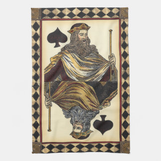 King of Spades Playing Card by Vision Studio Hand Towel