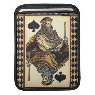 King of Spades Playing Card by Vision Studio iPad Sleeve