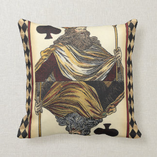 King of Spades Playing Card by Vision Studio Throw Pillows