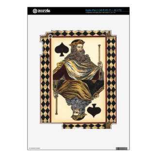 King of Spades Playing Card by Vision Studio Skin For iPad 3