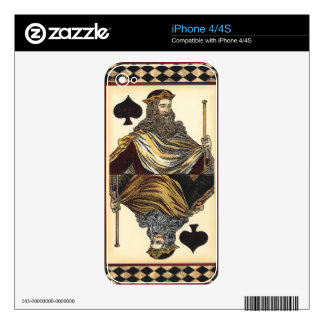 King of Spades Playing Card by Vision Studio Decal For The iPhone 4