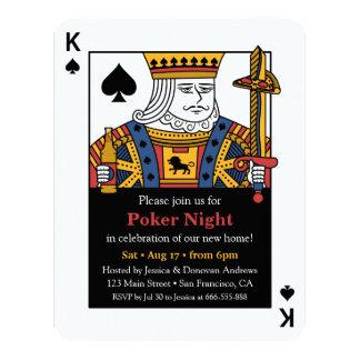 King of Spades Poker Night Housewarming Party Card