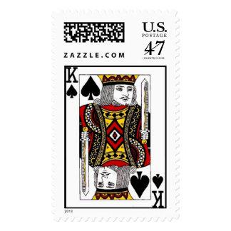 King of Spades Postage Stamp