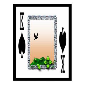 King of Spades Postcard